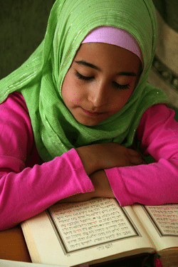 Girl Reading Qur'an