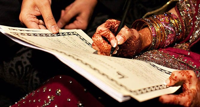 Muslim marriage nikah