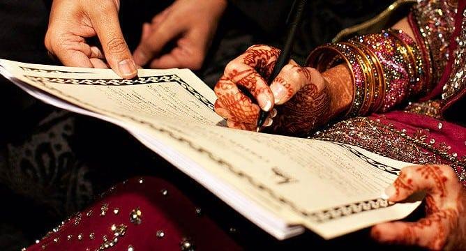 Muslim marriage nikah