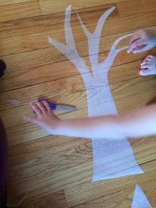 Step 1: Cut out the tree shape