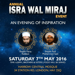 uk tour isra miraj
