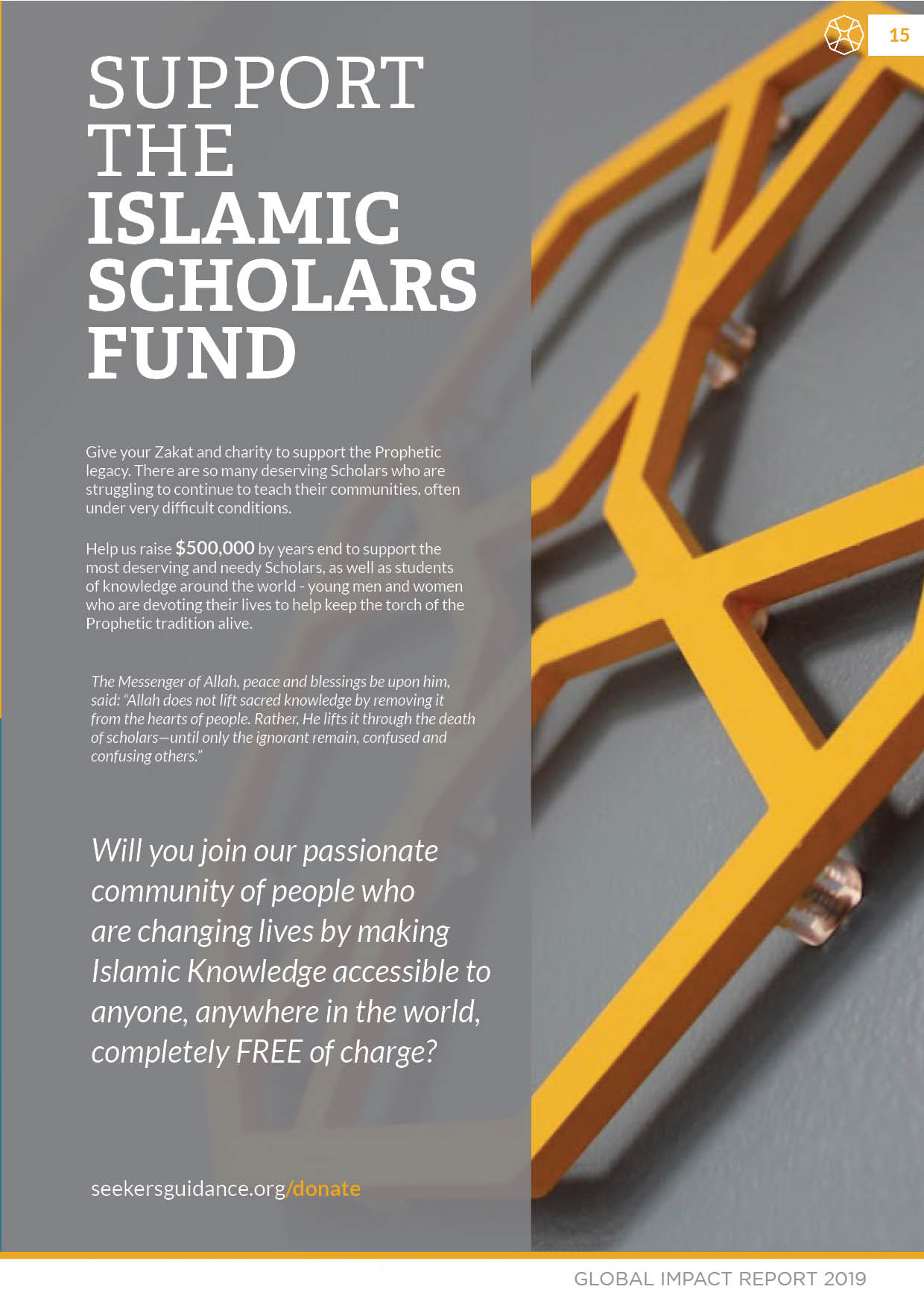 support the islamic sholars fund