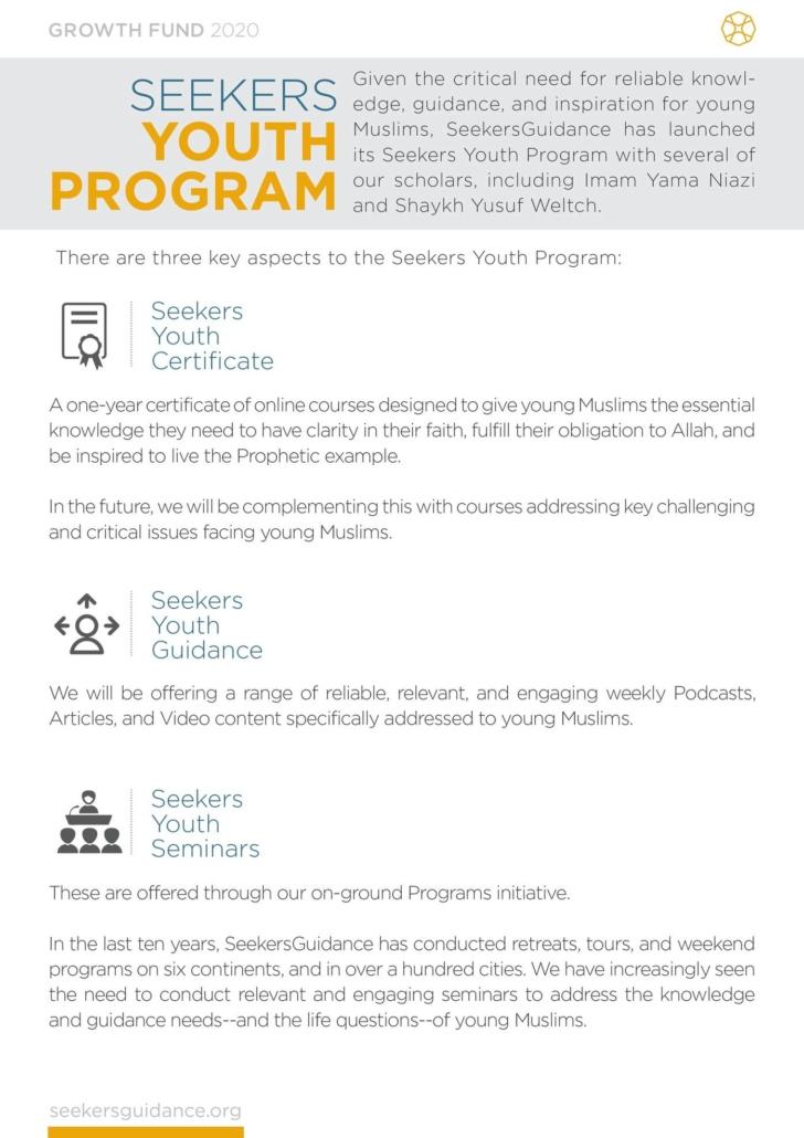 Seekers Youth Program