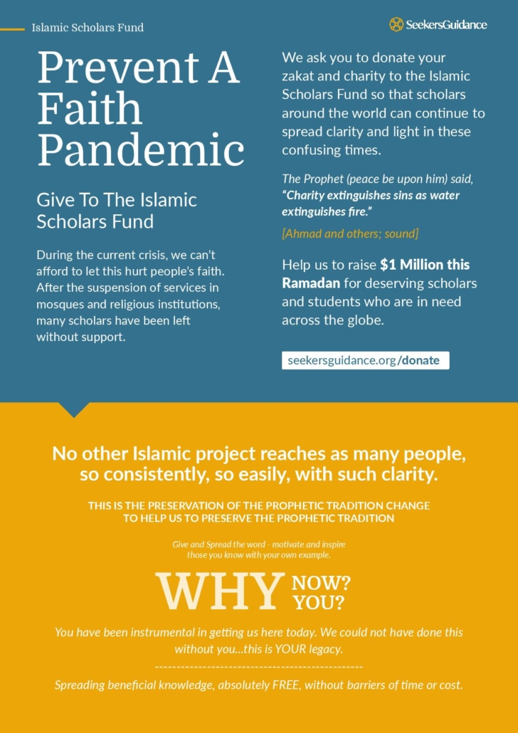 Prevent a faith pandemic